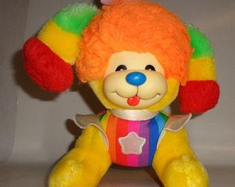 """Vintage Rainbow Brite PUPPY BRITE 1983 Mattel Full Size 11"""" Dog Plush Hallmark"""