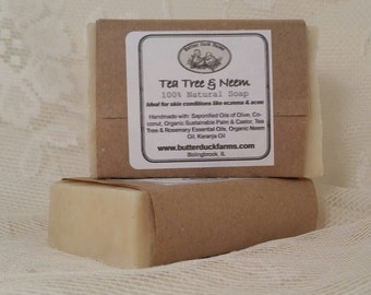 Tea Tree & Neem Oil Soap - 100% Natural