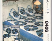 Classic 1983 McCall's 8426 UNCUT Craft Pattern Quilt and Pillow Package Size Double - Queen