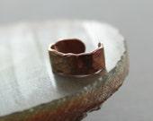 Minimalistic simple copper ear cuff - Body jewelry - No pierce earrings
