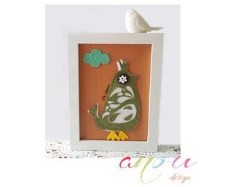 Children wall art, Toddler room decor, Baby nursery art, Canvas 5 x 7 inch