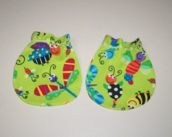 Funny Bugs Baby Mitts