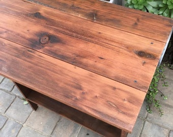 Rustic Wood Table - Home & Living - Kitchen - Drop Leaf Dining Table - 36 Tall x 32 Wide - Home Decor - Reclaimed Wood Furniture