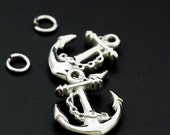1 Stainless Steel Anchor Charm - 20.5mm x 17mm - Jump Ring Included - 100% Guarantee