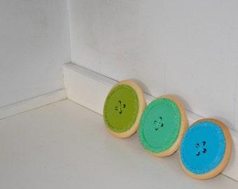 Baby Shower Birthday Button Cookies