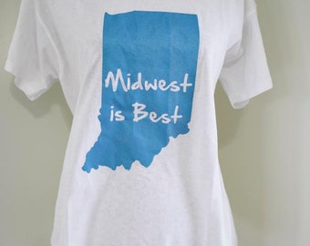 Women's Indiana 'Midwest is Best' T-Shirt - SALE