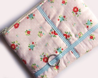 Pink posy coin purse - SALE