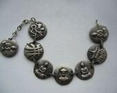 RESERVED FOR PAULA Vintage 50's 60's Souvenir Bracelet Buddha