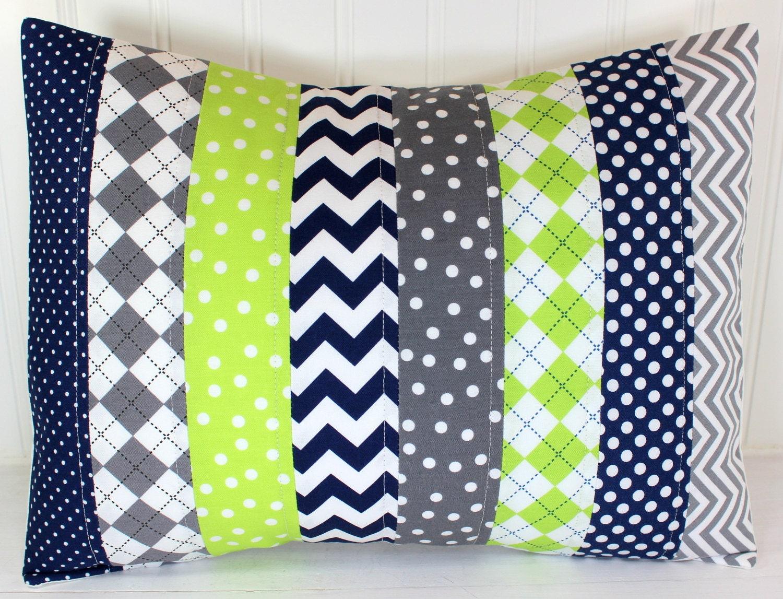 Pillow Cover Baby Boy Nursery Decor Patchwork Pillow Cover