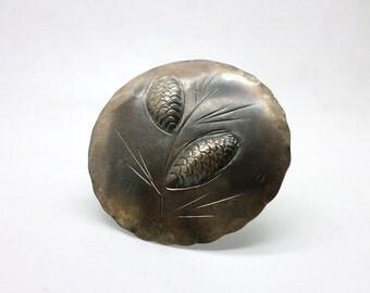 Vintage Stuart Nye Sterling Silver Maple Leaf Pin Brooch