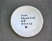 handmade ring dish ceramic ring bowl minimal design ring bearer dish personalized weeding gift