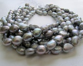 Silver Mist Freshwater Cultured Baroque Pearls Full Strand