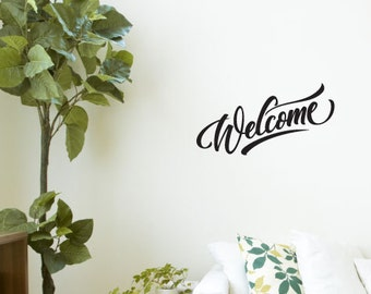 Welcome - Vinyl Lettering