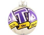 Very Small Handpainted Delta Tau Delta Ornament