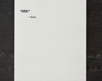 brb. letterpress card. #681