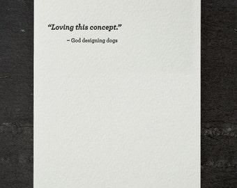 concept. letterpress card. #683