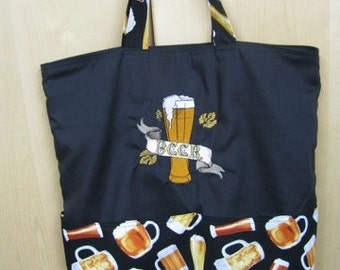 Elegant Beer Tote Bag Shopping Bag Diaper Bag