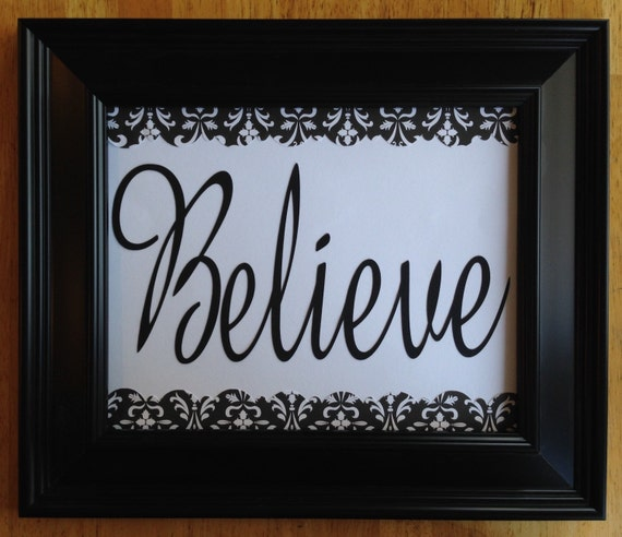 items similar to believe home decor sign inspirational