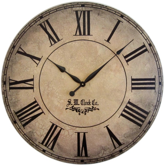 36 In Grand Gallery Extra Large Wall Clock Antique Style