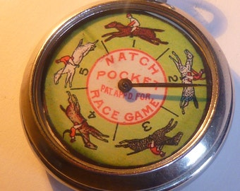 Vintage Horse Race Gambling Pocket Watch game