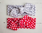 Jersey Headband // Knot Headband // Jersey Knit //Head Wrap // Tie Headband- for all ages