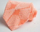 men's peach plumage necktie