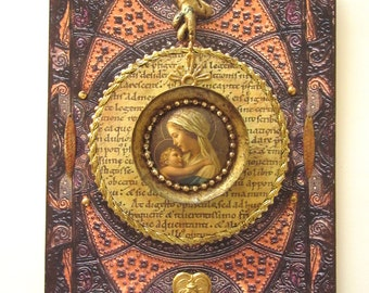 Religious Art Assemblage Mixed Media Art Religious Decor