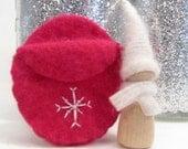 Winter Snowflake Gnome, Waldorf Wooden Toy