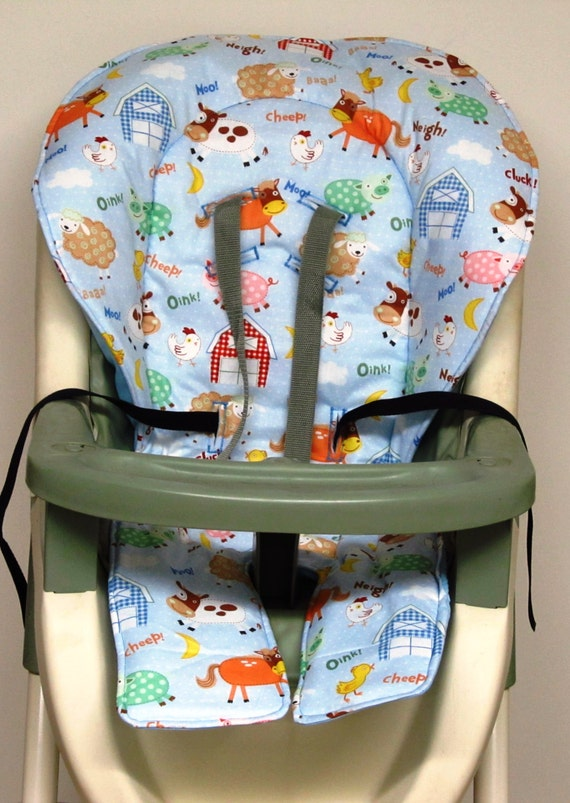 high chair cover graco pad replacement barn yard cut outs. Black Bedroom Furniture Sets. Home Design Ideas
