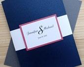 Custom Pocket fold Invitation Suite