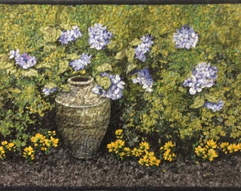 Garden's Edge Original Art Quilt by Lenore Crawford