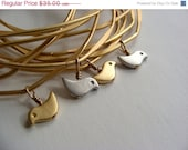 SPRING SALE 30% OFF Birds Nest Bangles - Build Your Own Set of Six Bangles with Three Birds