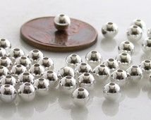 Silver Half-Drilled End Bead Caps 3mm 20 Beads Tips for Memory Wires