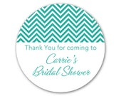 Custom Bridal Shower Favor Stickers - Personalized Labels - Custom Modern Stickers - Favor Labels - Choose Your Colors