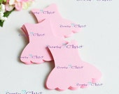 "90 Ballerina Dress Tags Size 3"" In Non-textured or Textured Cardstock paper"