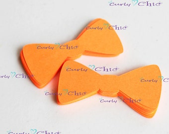 """302 Bow Tie Die cuts Size 2""""x1"""" -Paper Bow tie tags -Cardstock Bow tie -Small Bow tie tags -Paper tags -Paper labels -Paper Bow tie die cut"""