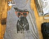 Detroit Nerd (color glasses edition) Tank Top