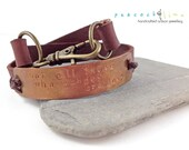 Not All Those Who Wander // burgundy brown leather & copper wrap bracelet // handmade // ready to ship