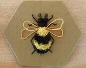 Bee stumpwork embroidery kit