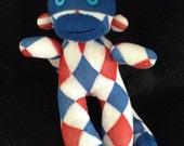 MINI America Sock Monkey with button eyes