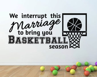 Vinyl Wall Lettering Basketball Marriage