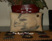 Bunny Accent Pillow, bowl filler