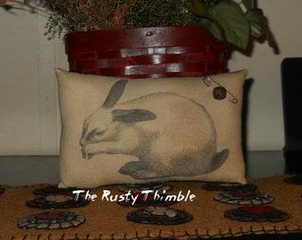 Bunny Accent Pillow primitive bowl filler