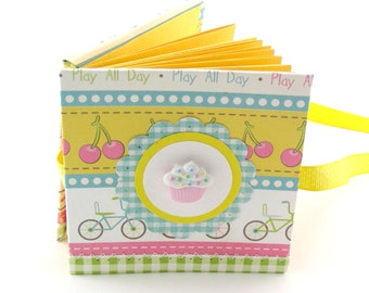 Snack & Play Mini Photo Book, 2x3 wallets - yellow, pink, aqua