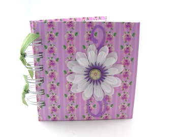 Rose Chintz Gratitude Book, gratitude journal, thank you book, thank you journal, gratitude diary, blessings book - lavender