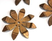 3 Large Vintage 1960s Flowers // 60s 50s Flower Finding  // Copper // Craft Jewelry Supply // NOS // Spring