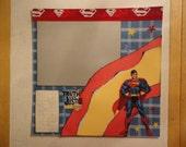 Superheroes - Superman #3 8 x 8 scrapbook page