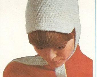 Hat with ties crochet pattern
