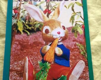 Vintage peter rabbit puppet board book