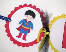It's a Boy Superhero Baby Shower Banner Superhero Baby Shower